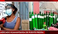 Mujer se quiebra en cola para conseguir oxígeno para su madre en Puente Piedra