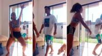 El intruso ingresó a la casa de la mujer y todo fue captado en video