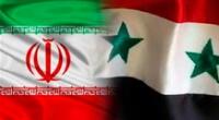 Banderas de Irán y Siria.