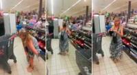 El video de la mujer se hizo viral en redes sociales.