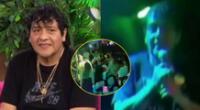Toño Centella captado en concierto en discoteca clandestina repleto de asistentes.