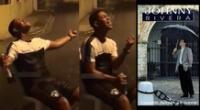 Peculiar video del joven cantando se viralizó en las redes sociales.