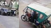 Delincuentes escapan de auto que los enviste tras robo.