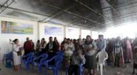 Religiosos se reunieron en un local pese a las medidas de bioseguridad y a la segunda ola del coronavirus.
