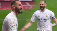 Karim Benzema le dio el empate al Real Madrid.