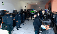 Entre los detenidos se encontraron a cinco menores de edad