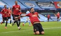 Festejo del Manchester United por el gol anotado al City.