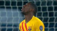 Delantero del Barcelona mandó la pelota a las nubes de París.