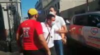 Es aspirante presidencial por Somos Perú justificó su reacción y aseguró que solo se defendió de un agravio.