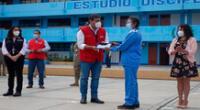 Titular de Educación y presidenta del Consejo de Ministros entregaron en Ayacucho un nuevo lote de dispositivos electrónicos