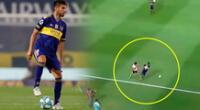 Carlos Zambrano se lució en el gol de Boca Juniors ante River Plate.