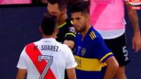 Carlos Zambrano fue expulsado en el Superclásico Boca vs. River.