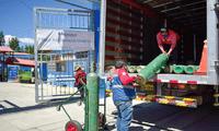La Red Asistencia de Huaraz recibió 90 balones de oxígeno medicinal de 10 metros cuadrados.