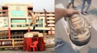 Estatua del ídolo máximo de Universitario de Deportes fue destruido el último lunes.