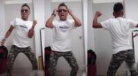 Baile del imitador de Christian Cueva se hizo viral en las redes sociales.