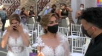 Evelyn Vela se casó con Valery Burga.