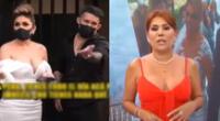 Esposo de Evelyn Vela se pone furioso con reportero de Magaly Medina.