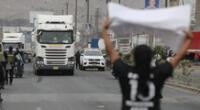 Transportistas de carga tomaron las principales vías del país desde el último lunes.