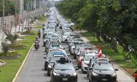 paro de transportes deja sin servicio de taxi y microbuses
