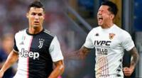 Gianluca Lapadula y Cristiano Ronaldo.