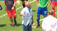 DT de Huancayo estalló de irá ante la falta hacia su jugador.