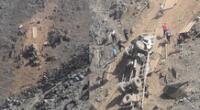 Comas: camión cae al abismo en la carretera Pasamayito