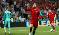 Cristiano Ronaldo listo para festejar en las Eliminatorias a Qatar.