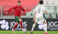 Cristiano Ronaldo feliz por la victoria de Portugal y triste porque no pudo anotar.