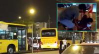 Capturan a delincuentes que robaban a buses alimentadores del Metropolitano.