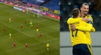 Zlatan Ibrahimovic controló perfectamente para darle pase a Viktor Claesson, quien puso el 1-0 definitivo.