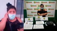 Mujer es detenida  portando droga en Los Olivos