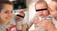 Yiddá Eslava también compartió unas fotografías junto a su bebé, y se mostró muy feliz a su lado.
