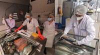 Inspeccionan puestos de venta de pescados y mariscos en Miraflores.