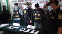 Sujetos que robaban celulares fueron capturados por la PNP.