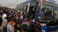 Anuncian paro general de transporte público urbano en Lima y Callao