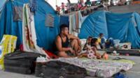 Venezolanos desplazados del pueblo de La Victoria, estado Apure, se refugiaban en Arauquita, departamento de Arauca, Colombia, el 26 de marzo de 2021.