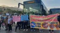 Dirigentes de distritos de Lima Norte indicaron que más de 50 asentamientos humanos no cuentan con el servicio de agua potable y desagüe.