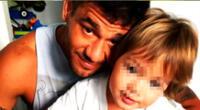 El chico reality Yaco Eskenazi le dedica tiempo a su hijo para práctica deporte.