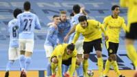 Borussia Dortmund le complicó al City que ganó con gol en descuentos.