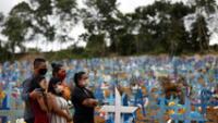 Hoy la cifra de fallecidos aumenta a 336.947 desde la aparición del COVID-19 en Brasil, febrero de 2020.