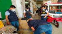 La PNP Fiscal y personal de Aduanas en plena intervención