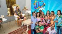 Jorge Benavides recibió la visita en su hogar de sus compañeros de JB en ATV, quienes le llevaron una torta y obsequios.