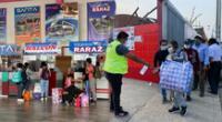 Personas acuden al terminal de Yerbateros para viajar y votar en elecciones.