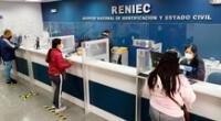 Las agencias de la Reniec vienen atendiendo a nivel nacional desde este sábado 10 y lo continúan haciendo este domingo 11 de abril en doble turno.