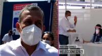 El expresidente Ollanta Humala acudió a votar y envió un mensaje a sus contendientes.
