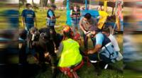 Accidente dejó 14 heridos, entre ellos menores de edad.