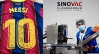 Lionel Messi habría influido para convencer a Sinovac de entregar vacunas a la Conmebol.