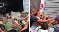 La PNP logró detener a cuatro personas que habrían puesto resistencia a las autoridades y serían denunciados por diversos delitos.