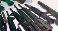 la PNP precisó que las armas de guerra tenían el calibre y el número de serie erradicados, por lo que se tiene la sospecha de que fueron utilizados para cometer diversos crímenes.