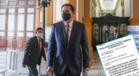 Martín Vizcarra no podrá ejercer ningún cargo público por 10 años.